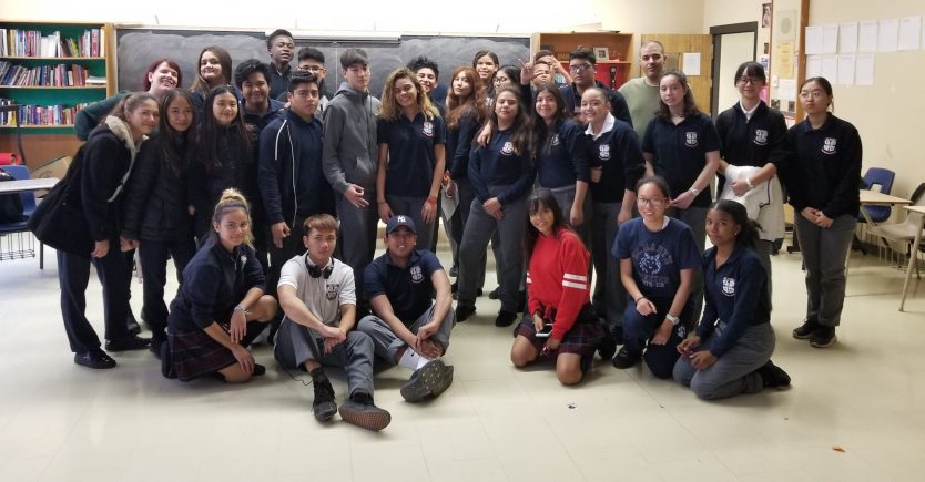 Student leads in the Multicultural Club in one Toronto high school